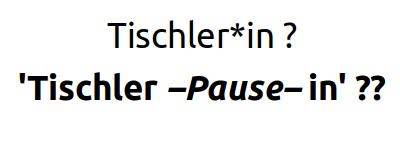 Gendergerechte Sprache? [Annex 5. Juli 2021]